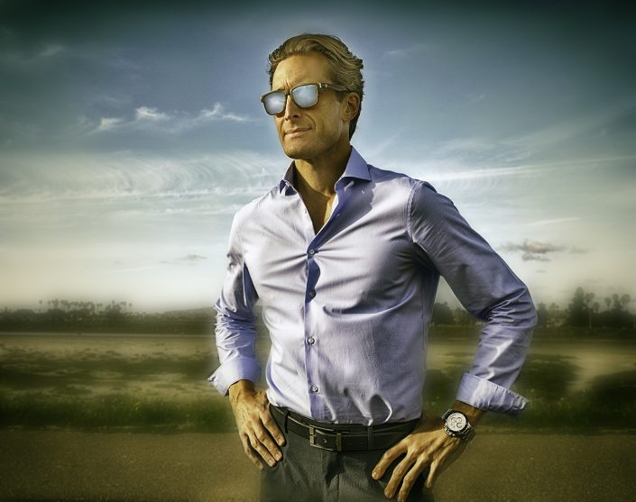 Man Model with sun glasses